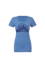 Load image into Gallery viewer, Women' Mindful Flint Triblend Tee - Blue