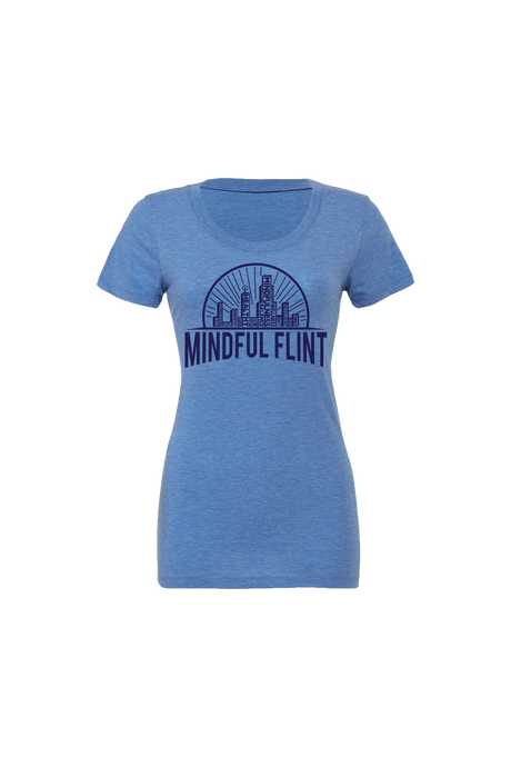 Women' Mindful Flint Triblend Tee - Blue