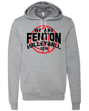 Fenton Volleyball - Volleyball Logo - Grey Sponge Hoody