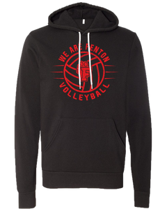 Fenton Volleyball - Distressed Logo - Black Sponge Hoody