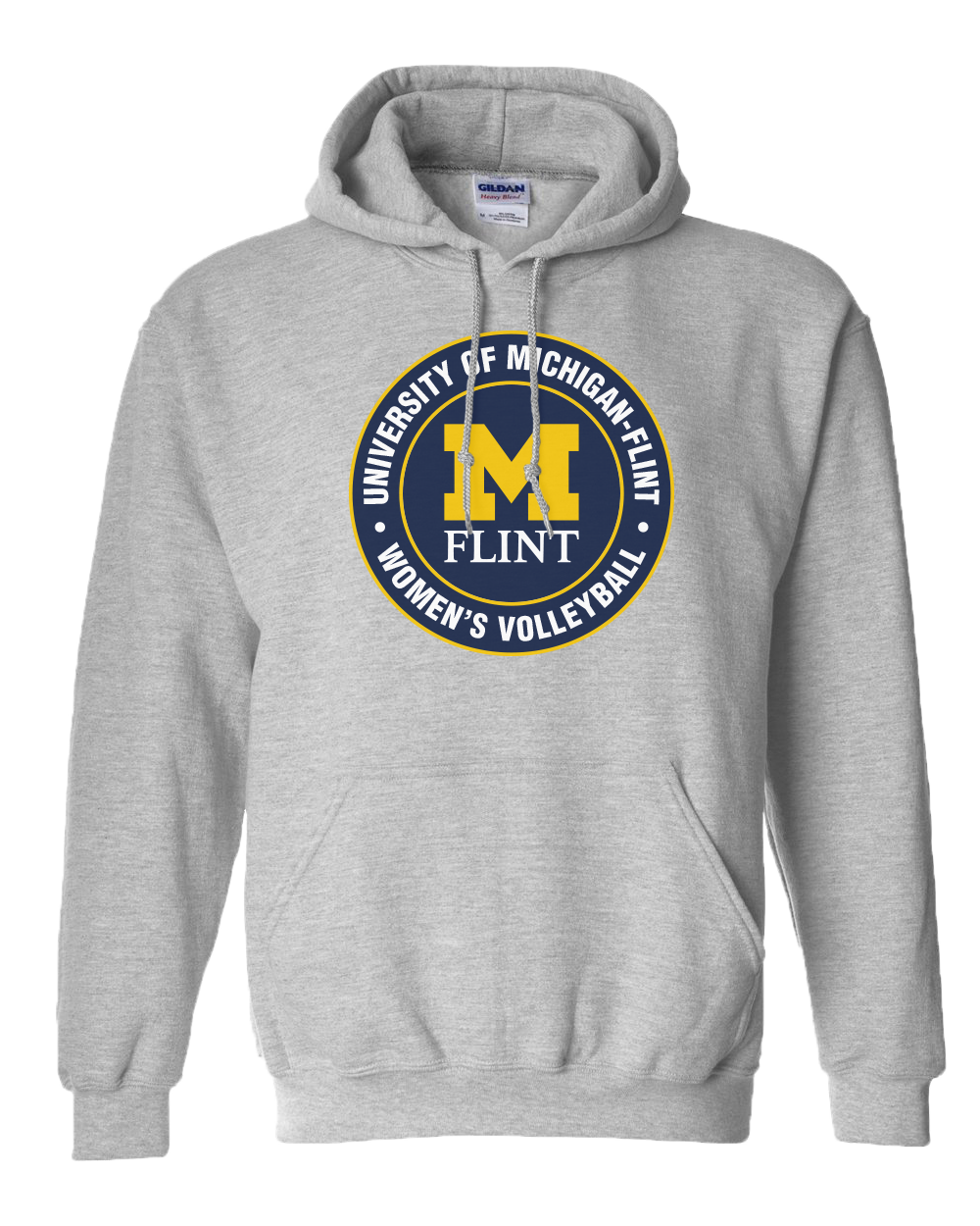 UofM Flint Circle Design Sport Grey Hoodie