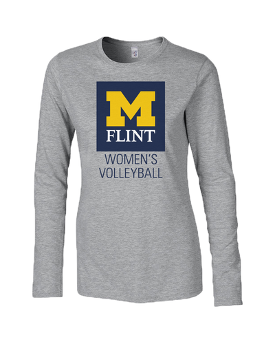 UofM Flint W's Volleyball Design Sport Grey Ladies Long Sleeve