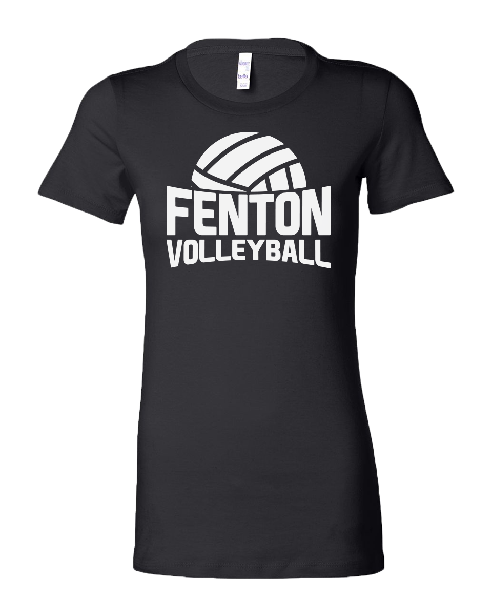 Fenton Volleyball - Women's Black Jersey Tee - Practice VB Logo