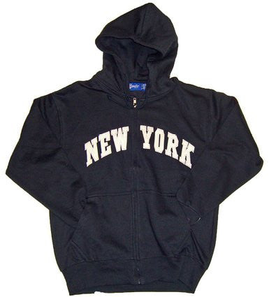 Black New York Zipper Hoodie