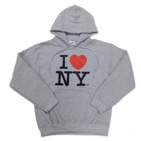 Grey I love New York Sweatshirt (Adult)