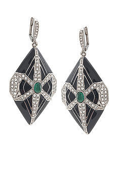 Carolee 40th Anniversary FIT Collection Deco Drop Earrings