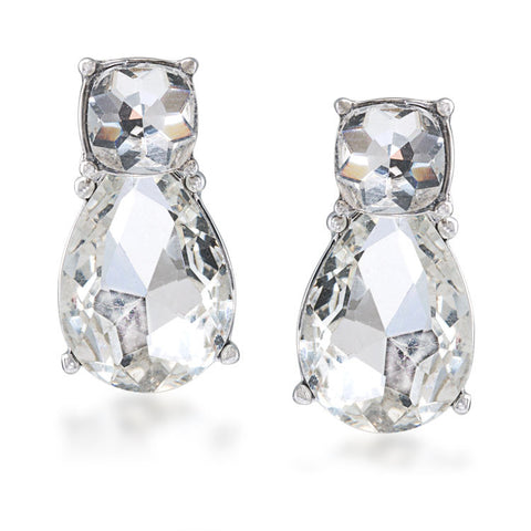 Catch the bouquet crystal drop pierced earrings
