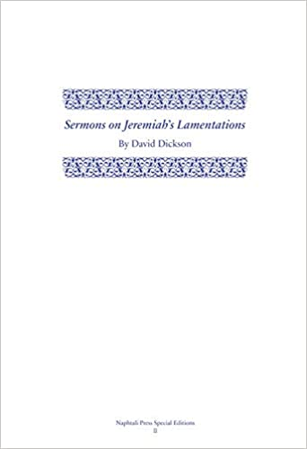 Sermons on Jeremiah's Lamentations