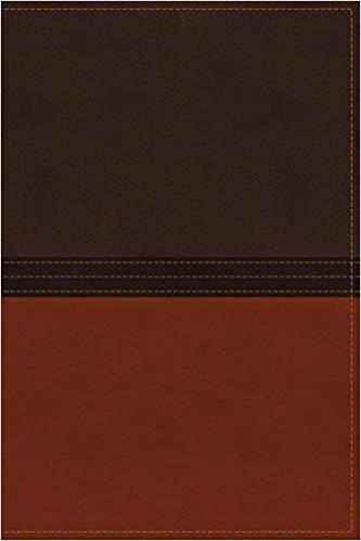 NASB MacArthur Study Bible Imitation Leather Brown/Orange