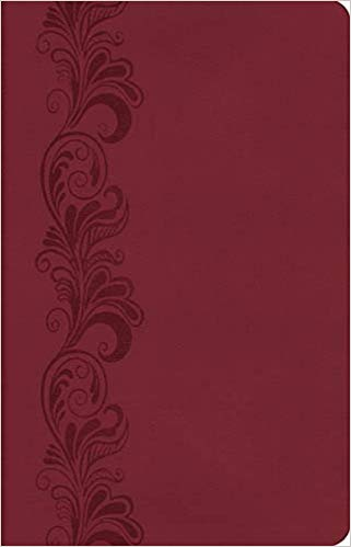 KJV Burgundy Leathersoft Personal Size Giant Print Reference Edition