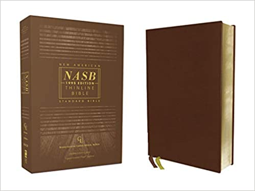 NASB 1995 Edition Thinline Bible Brown Genuine Leather