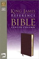 King James Version Reference Bible (Black Bonded Leather)