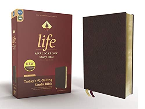 NIV Life Application Study Bible Third Edition Bonded Leather Burgundy