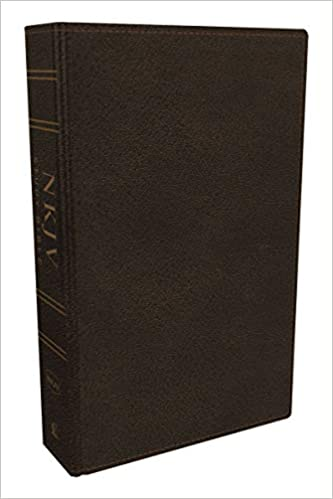 NKJV Study Bible Full-Color Edition Genuine Leather Brown