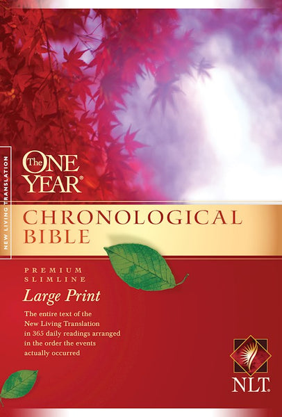 NLT One Year Chronological Slimline Bible/Large Print-Softcover