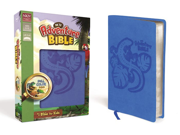 NKJV Adventure Bible Imitation Leather Ocean Blue Duotone