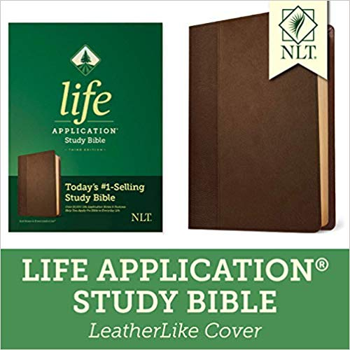 NLT Life Application Study Bible Imitation Leather Dark Brown/Brown