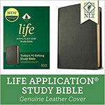 NLT Life Application Study Bible Genuine Leather Black