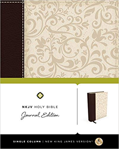 NKJV Holy Bible Journal Edition Imitation Leather Brown/Cream