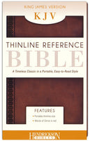 Thinline Reference Bible-KJV Imitation Leather Chestnut Brown