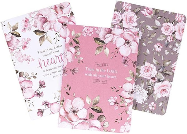 Notebook Set-Trust In The Lord (Set Of 3)