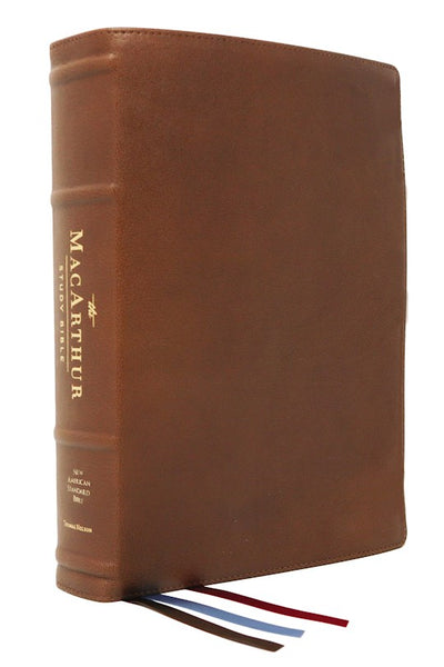 NASB MacArthur Study Bible (2nd Edition) (Comfort Print)-Brown Premium Goatskin Leather