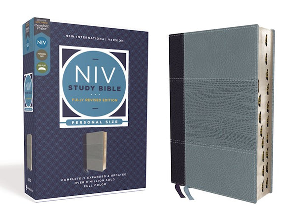 NIV Study Bible/Personal Size (Fully Revised Edition) (Comfort Print)-Navy/Slate Blue