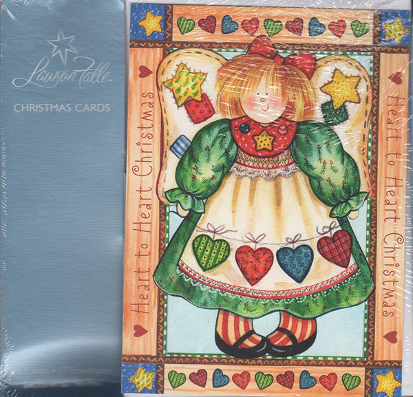 Heart to Heart Christmas Angel Boxed Christmas Cards with Scripture (08543)