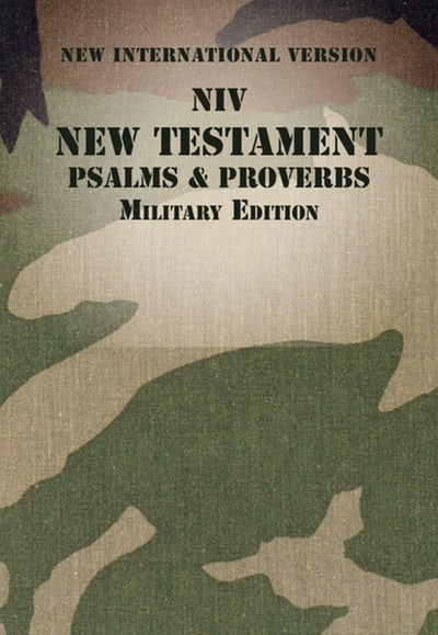NIV New Testament, Psalms and Proverbs Camo, Military Edition