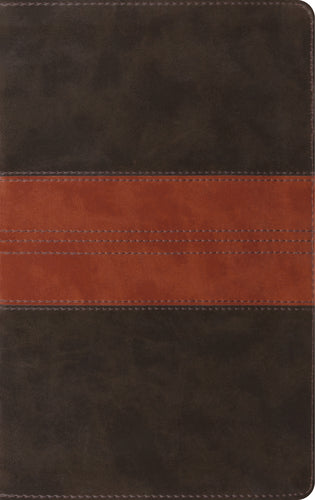 ESV Thinline  Reference Bible Trutone, Tan/Forest Trail Design