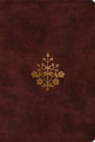 ESV Study Bible, Personal Size  TruTone®, Burgundy, Branch Design Imitation Leather