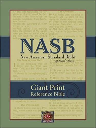 NASB Giant Print Reference Bible