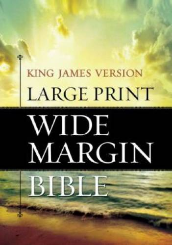 KJV Large Print Wide Margin Bible
