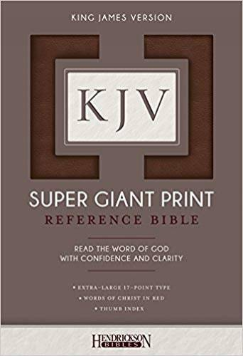 KJV Super Giant Print Reference Bible