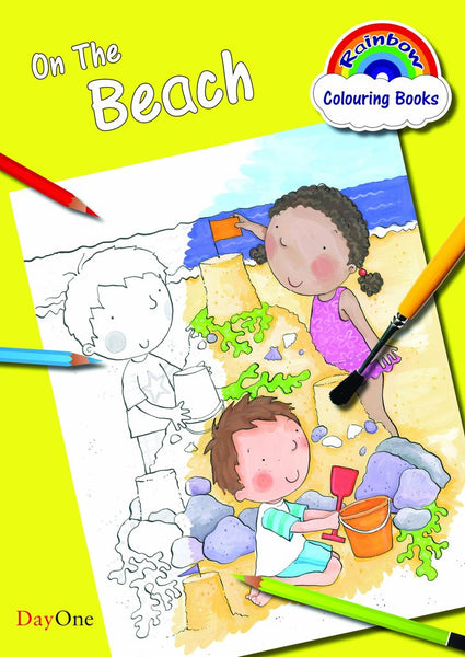 On the Beach Coloring Book (Rainbow Colouring)
