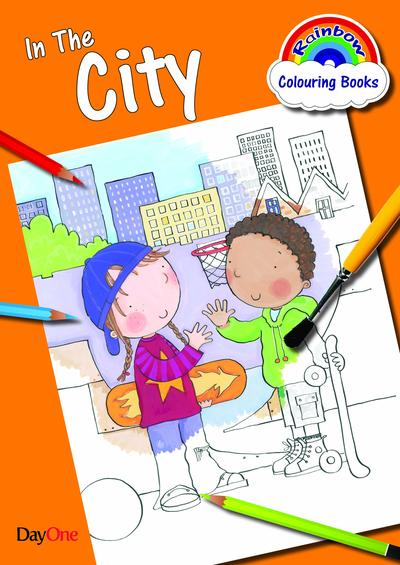 In the City Coloring Book (Rainbow Colouring)