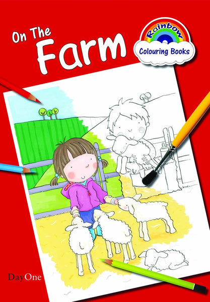 On The Farm Coloring Book (Rainbow Colouring)