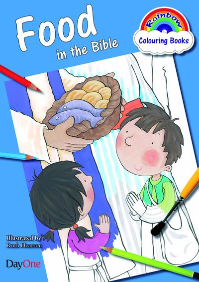 Food in the Bible Coloring Book (Rainbow Colouring)