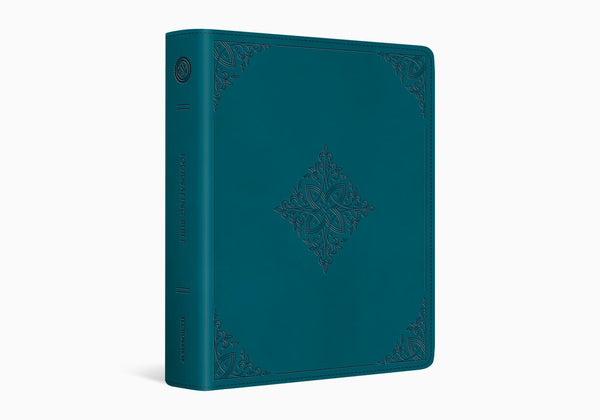ESV Journaling Bible® TruTone®, Deep Teal, Fleur-de-lis Design