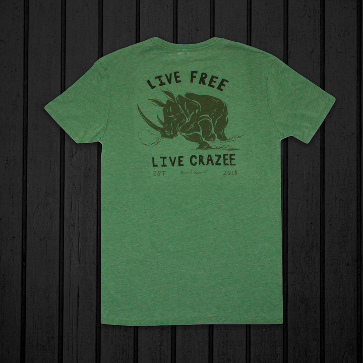 Ragin' Rhino Green Tee