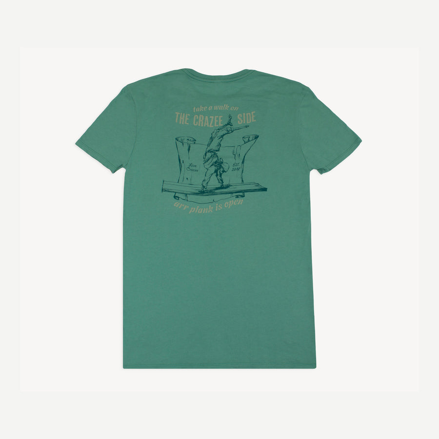 Walk On The Crazee Side Seafoam Tee