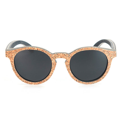 Unisex Sunglasses Wooden Cork Frame - Slappable Shades