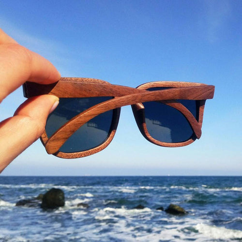 Walnut Wood Sunglasses Women Polarized - Slappable Shades
