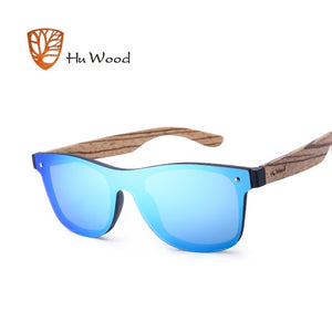 Vintage Style Rimless Framed Wooden Sunglasses - Slappable Shades