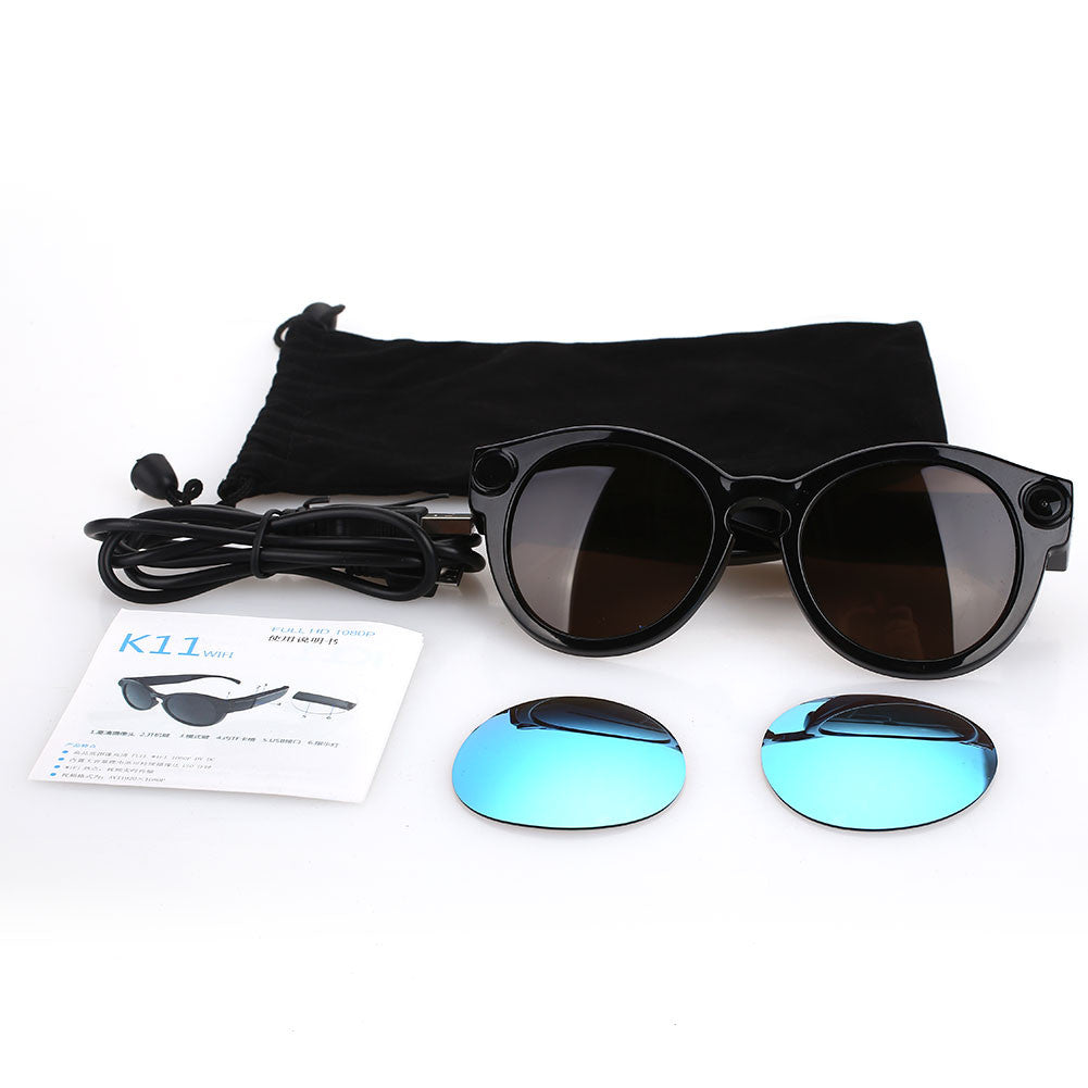 Mini Wifi 1080P Sports Camera Sunglasses - Slappable Shades