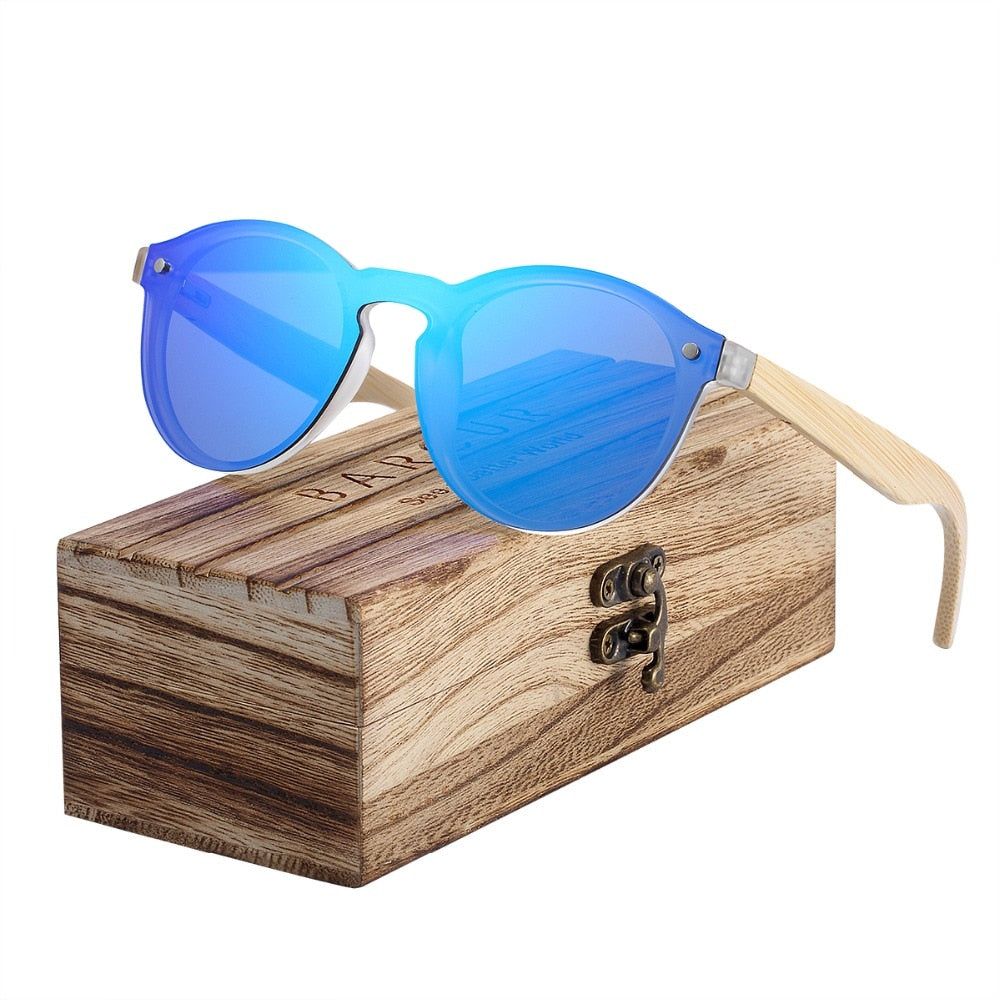 2019 BARCUR Cat Eye Wood Bamboo Sunglasses - Slappable Shades