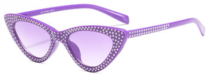 Beautiful Colorful Sparkly Fashion Cat Eye Triangle Sunglasses - Slappable Shades