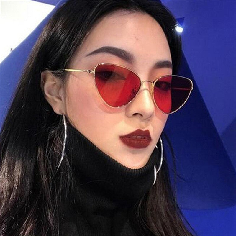Copper Framed Cat Eye Women Sunglasses - Slappable Shades