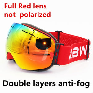 Double Layer Anti-Fog UV400 Sports Goggles - Slappable Shades