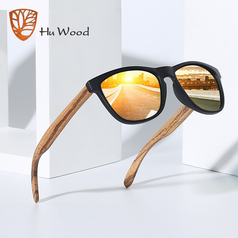 Natural Bamboo Wooden Driving Sunglasses - Slappable Shades
